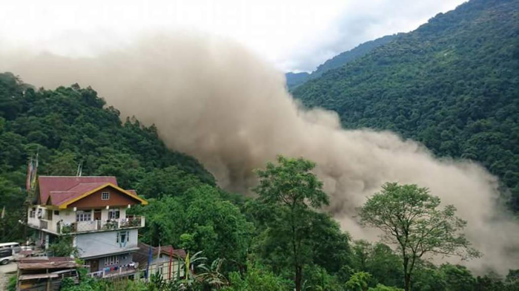 Rising water level washed away about 300 metres of road that connects remote North Sikkim with rest of the country