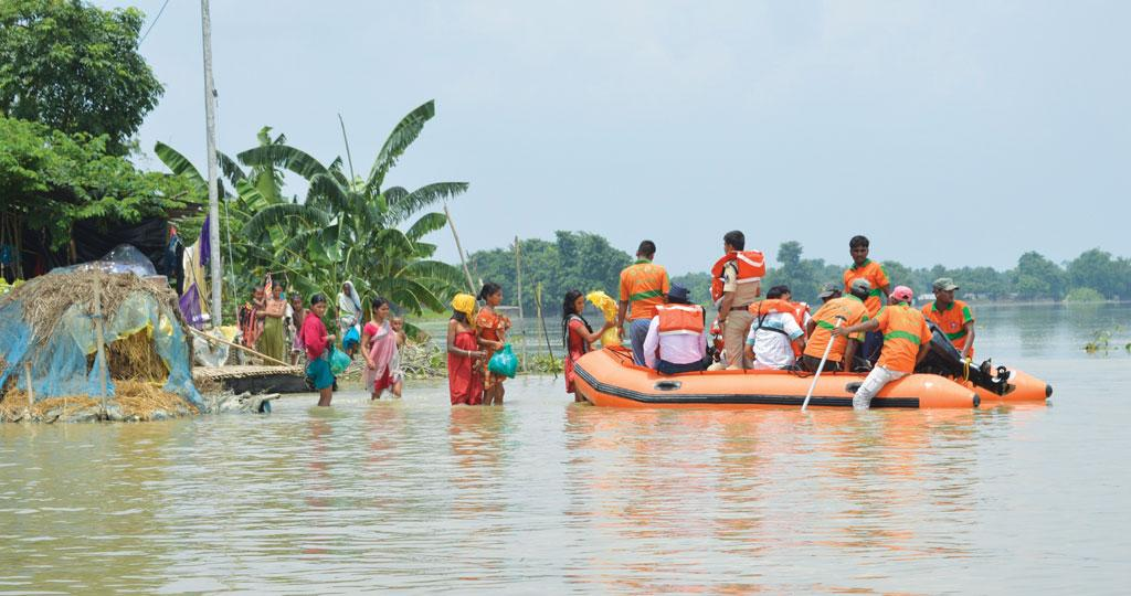 Though Bihar received 15 per cent deficit rain this monsoon, 3.8 million people in 23 districts faced floods (Photo: Chinmaya N Singh)