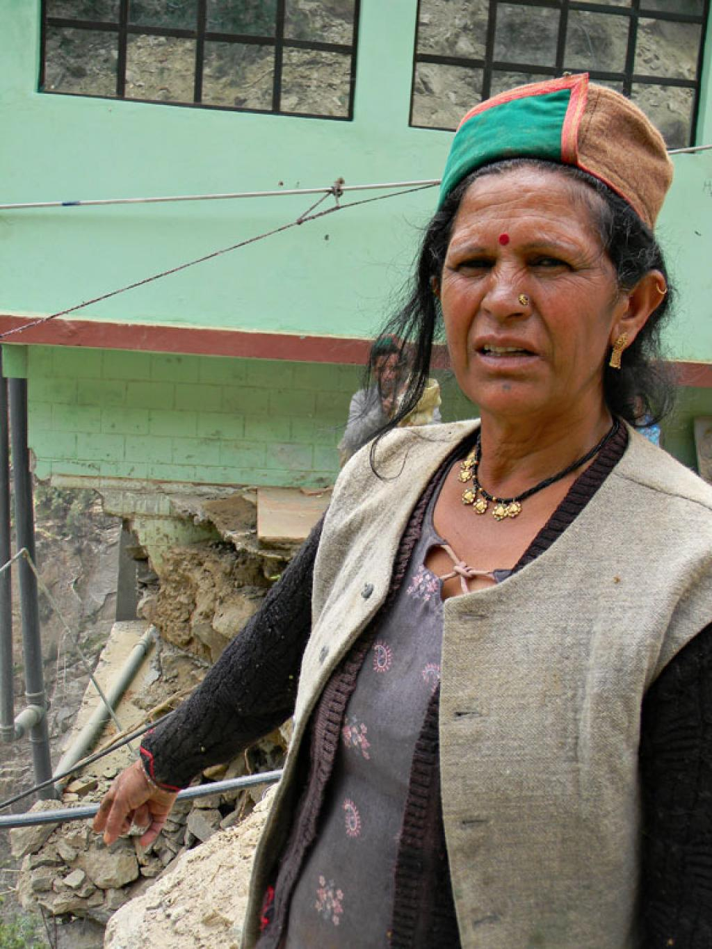 Deva Devi was running a guest house in her home. which collapsed in the rains.