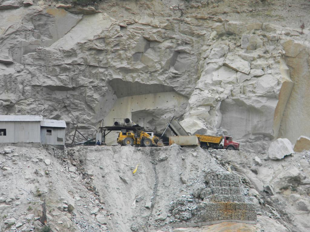 Apart from destabilising the land blasting for tunnels has caused drying up & disappearance of natural water soures  in the villages located along  tunnel.This information has been documented by the IPH Department.