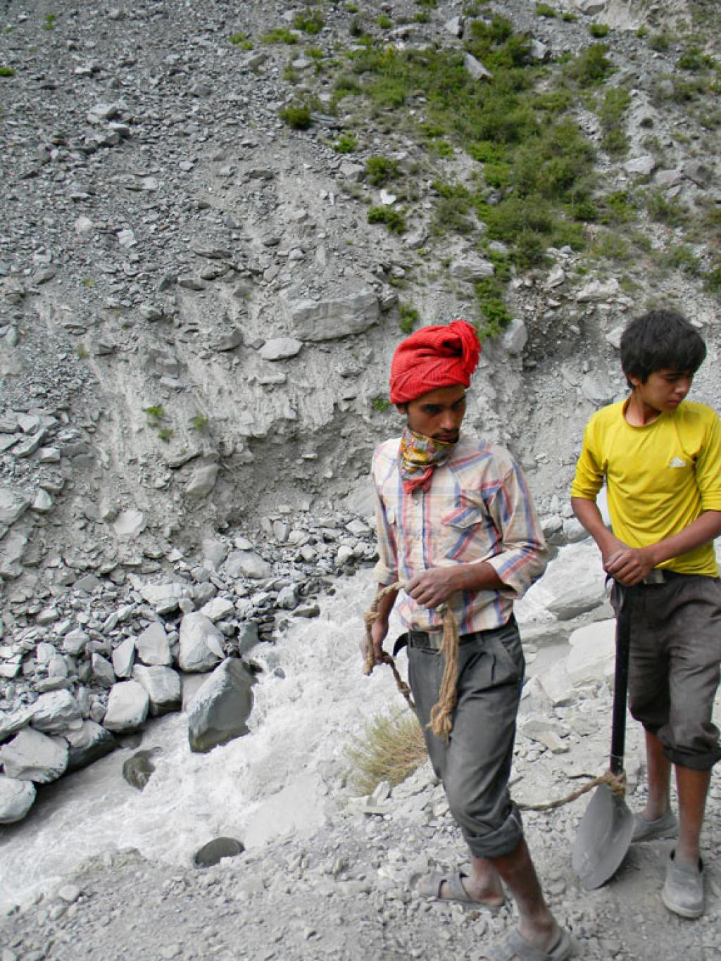 Of the 23 people who died during the floods most were migrant labourers who are the most vulnerable because of lack of adequate shelter & safety mechanisms.Children working as daily wagers in Ropa valley.