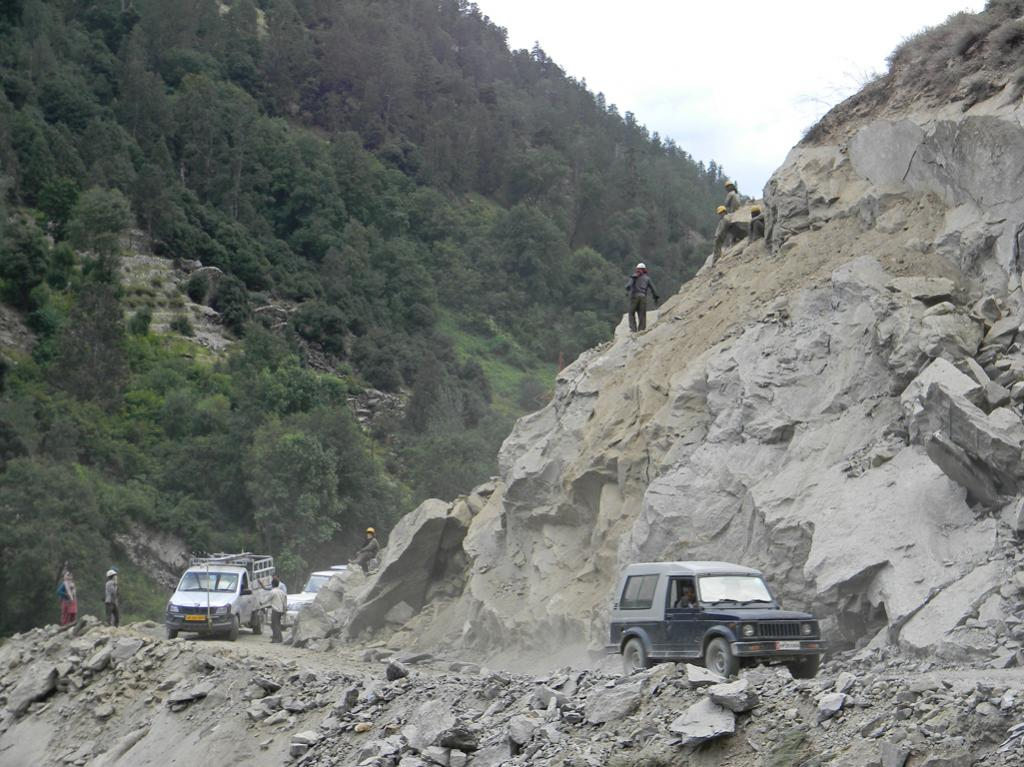 Unregulated Blasting & Drilling for road construction & expansion have made the already fragile slopes even more precarious. After the calamity there has been increasing pressure to repair and expand roads.