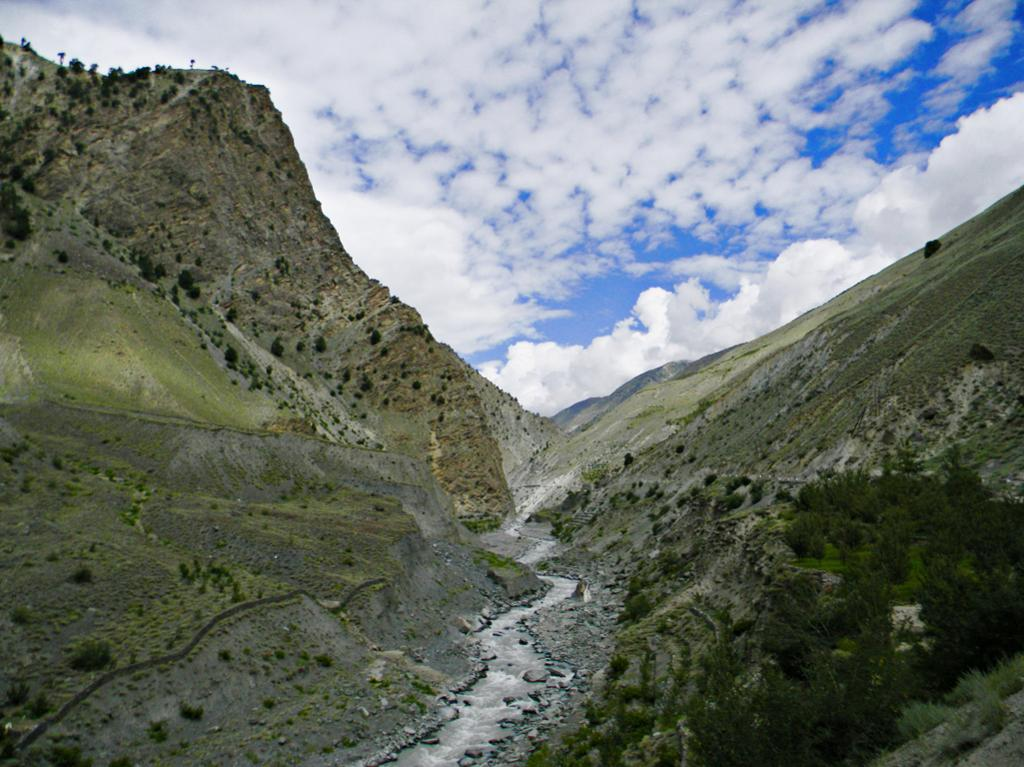Sparse vegetation & loose soils are characteristic of upper Kinnaur & Spiti regions of the Satluj valley.The area is increasingly sensitive to climatic changes & human interventions.