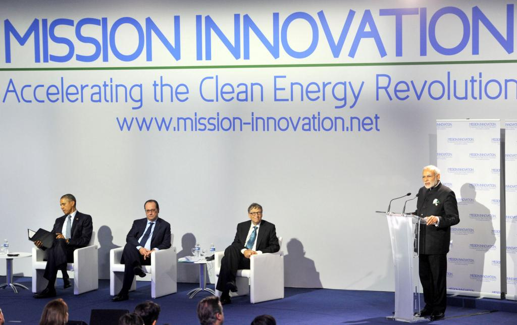 Prime Minister Narendra Modi speaks at COP21 in Paris last year. India will ratify the Paris Agreement on October 2, 2016 (Photo courtesy: PIB)