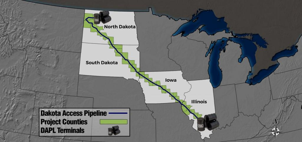 The pipeline will run from North Dakota and cover Iowa before coming to a stop at Illinois. Credit: www.keloland.com