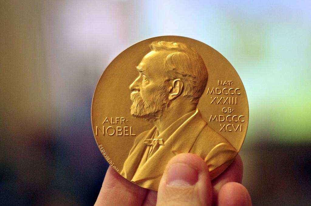 One half of the prize amount—eight million Swedish kronas—was awarded to David J Thouless from the University of Washington. Credit: Adam Baker / Flicker