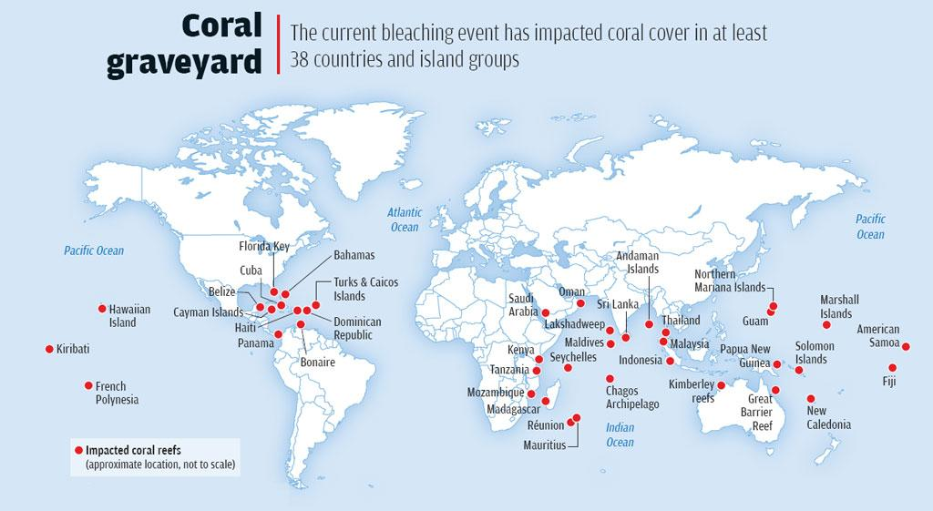 Source: Global Coral Bleaching 2014-2017 report