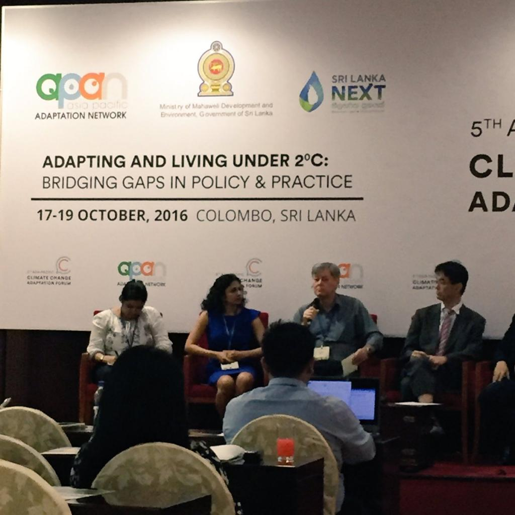Panelist P King addressing the audience at 5th Asia Pacific Climate Change Adaptation Forum (Credit: APAN/Twitter)