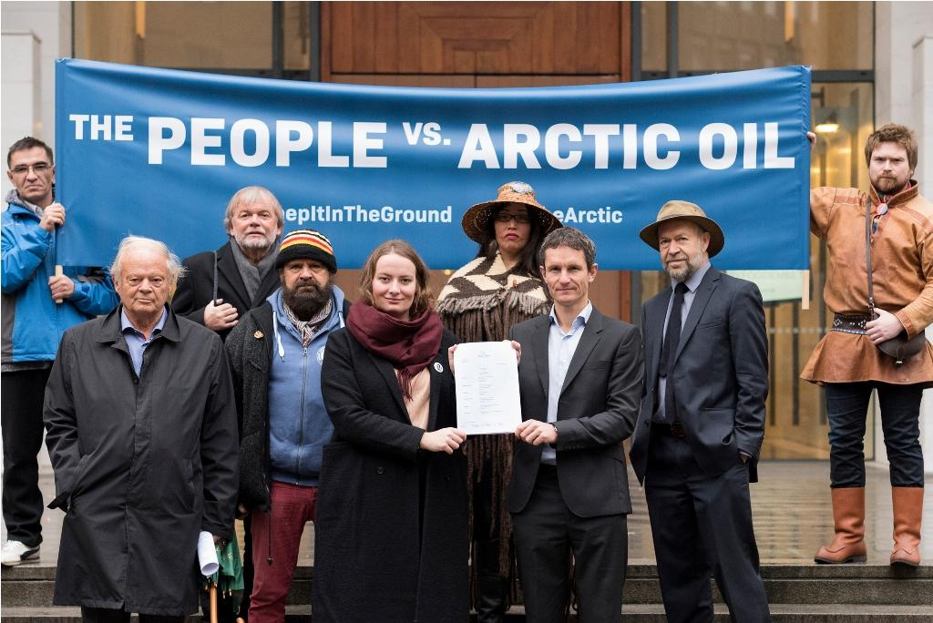 The case was filed on October 18, 2016 (Photo credit: Christian Åslund/Greenpeace)