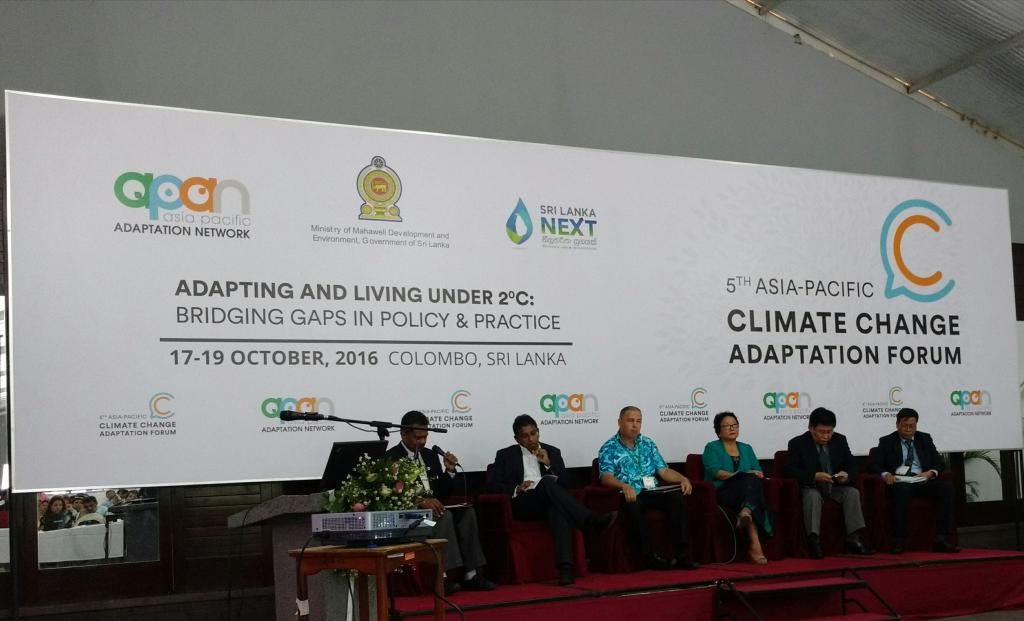 Speakers at the 5th Asia Pacific Climate Change Forum (Credit: Parul Tewari)