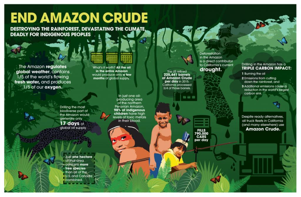 While there has been an overall decline in US crude imports, the imports from the Amazon are on the rise. Credit: Amazon Watch