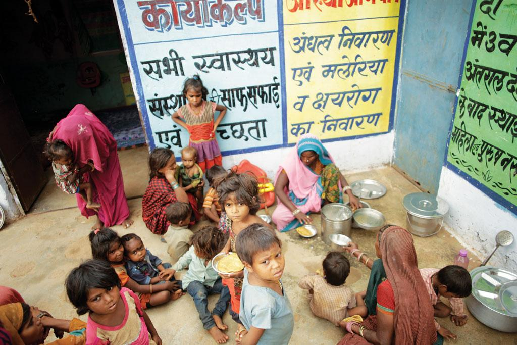 An anganwadi centre at Uparikhori village in Sheopur district. Most anganwadis in the district started providing meals to children only after malnutrition deaths made news
