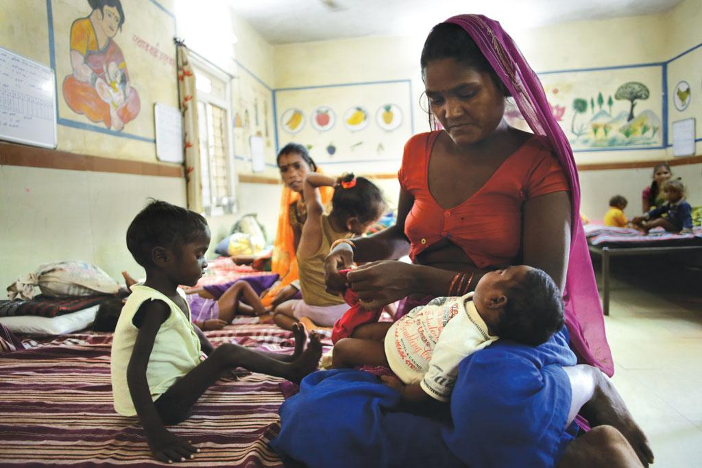 At least 155 children with severe acute malnutrition were admitted to the Nutrition Rehabilitation Centre at Karahal block in Sheopur in September 2016 (Photo: Photographs: Srikant Chaudhary)