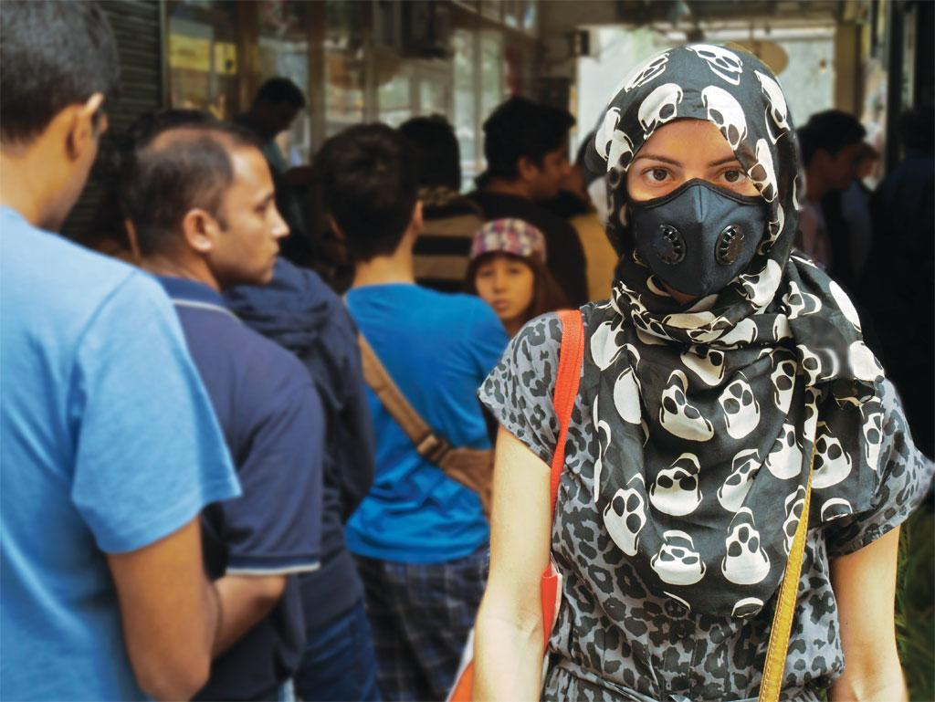 The sale of pollution masks went through the roof in Delhi in the week following Diwali due to dense smog and haze (Photo: Arnab Pratim Dutta)