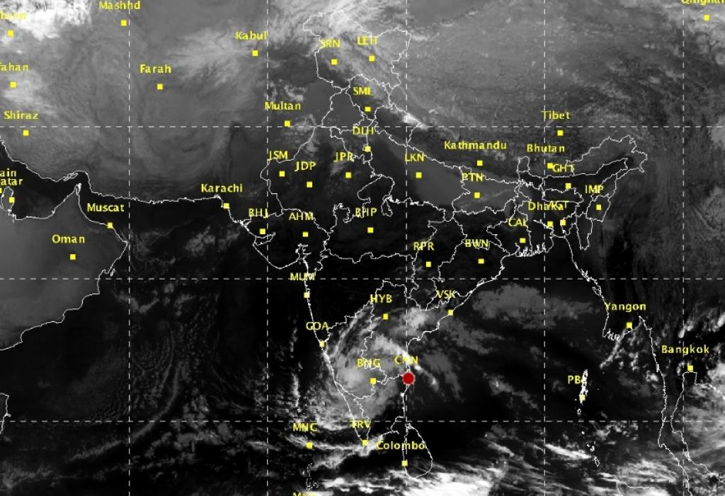 The civic authorities in Bengaluru have been asked to stay alert as the cyclone is likely to bring in strong spells of rain today. Credit: IMD