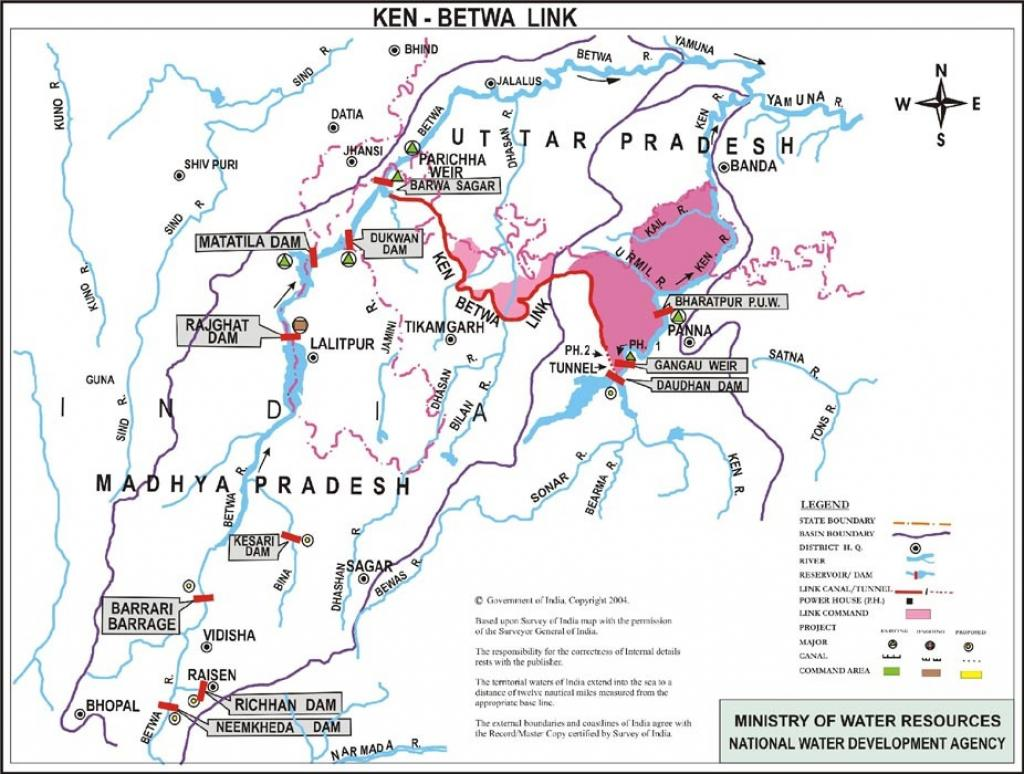 Doubt has surfaced over the assumption that surplus water is available in the Ken river basin. Credit: Ministry of Water Resources