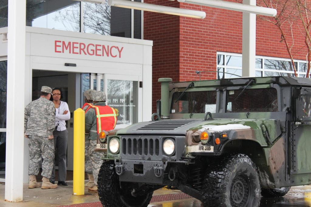 Most hospitals were not designed to cope with the health impacts of future extreme weather. Credit: Georgia National Guard/ Flicker