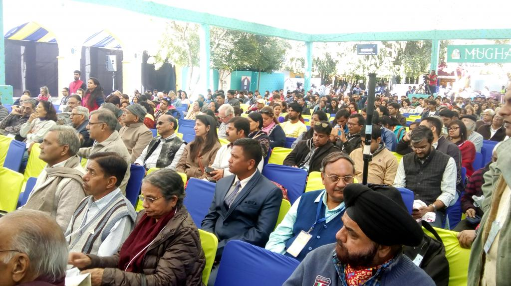 Captive audience attending the session on  'Deglobalisation in the time of Climate Change' at Jaipur Literature Festival