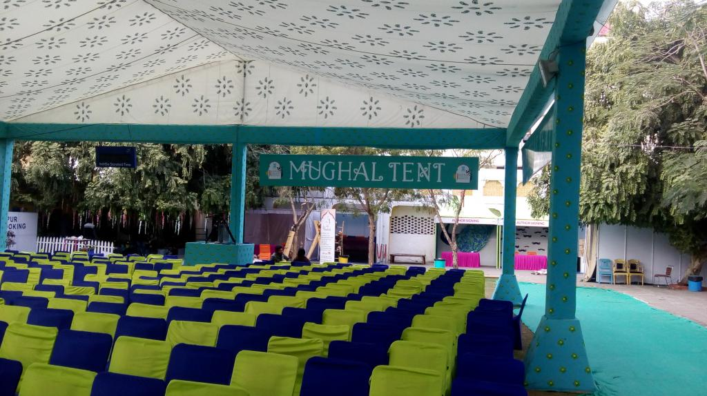 Before the beginning of the the session 'Deglobalisation in the time of Climate Change' at Jaipur Literature Festival