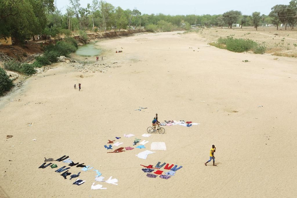 A dry riverbed