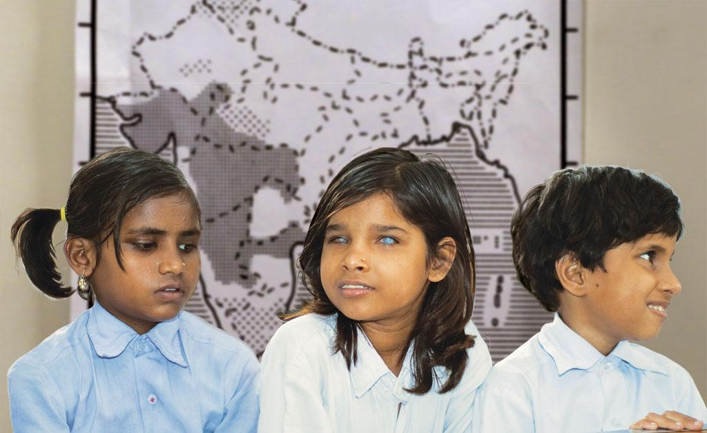 The Braille map (in the background) was developed using the silk screen printing technology, derived from traditional stenciling (Photo: J P Davidson; Montage: Ritika Bohra )