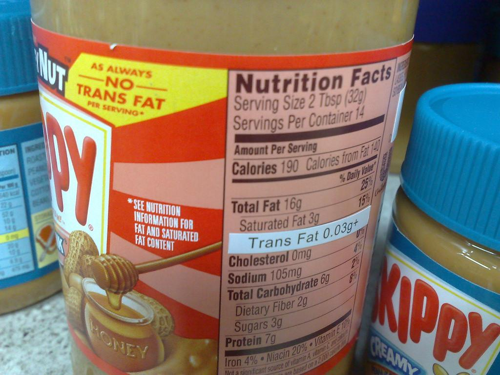 The amendment entails that the quantity of trans fats and saturated fats should be mentioned on the labels of products. Credit: Prodigal Sun / Flicker