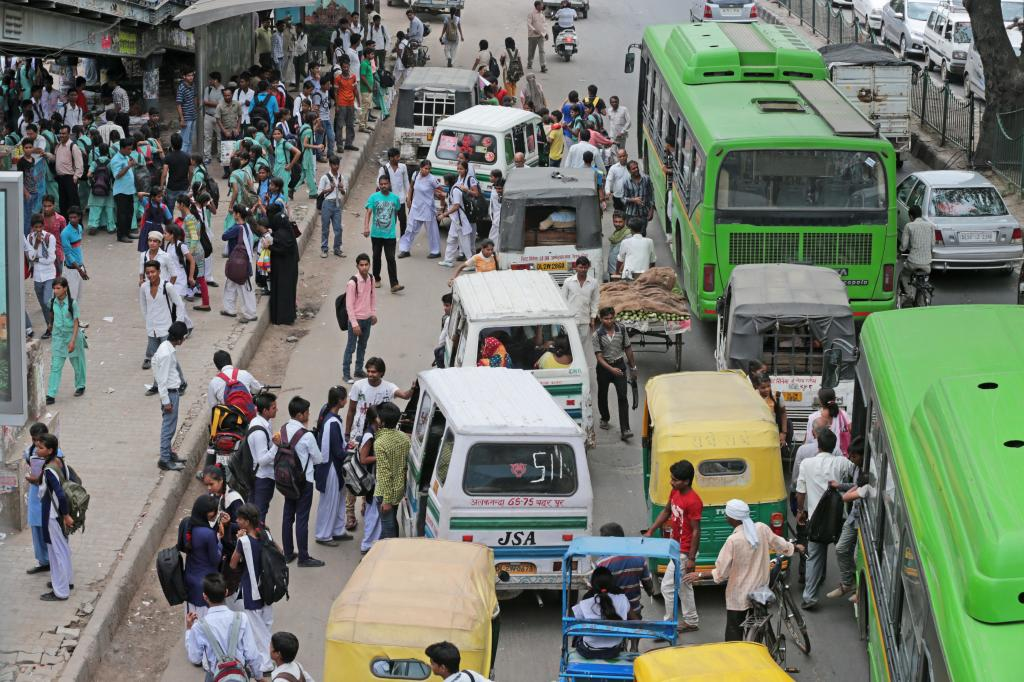 Around 26 per cent of Delhi's population depends on public transport, but the city does not have enough buses (Credit: iStock)