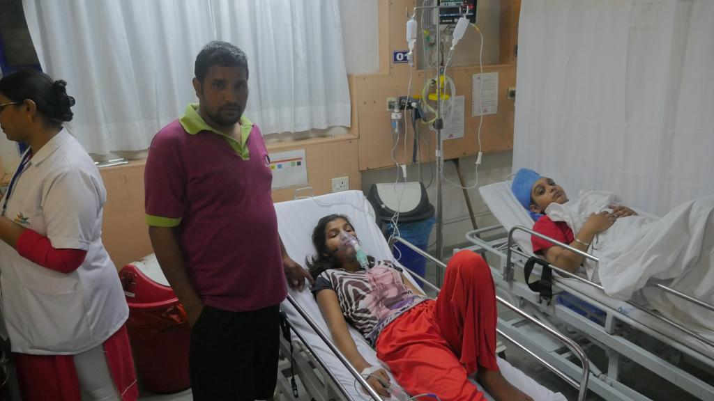 At least 300 girls were rushed to different hospitals in South Delhi when they complained about dizziness and headache