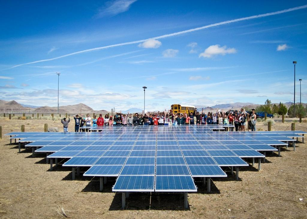 The Las Vegas strip in Nevada has also become the target of power utilities for its efforts to harvest solar energy. Credit: BlackRockSolar / Flickr