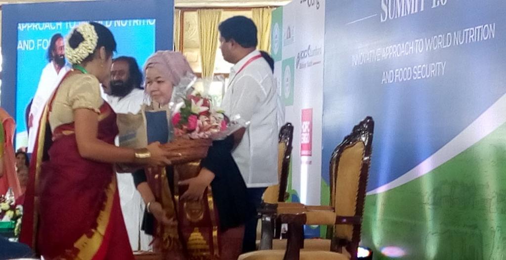 Helianti Hilman, founder JAVARA Indigenous Indonesia, at the Natural Framing Summit in Bengaluru. Credit: Subhojit Goswami / DTE