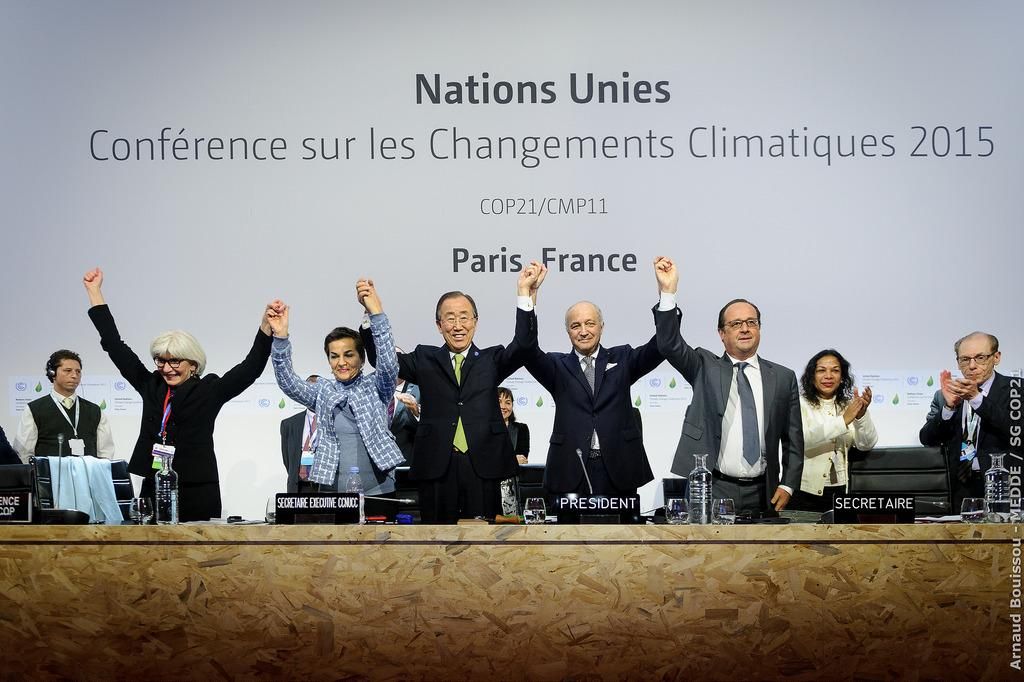 China and Europe have agreed to forge ahead and lead a clean energy transition. Credit: COP PARIS / Flickr
