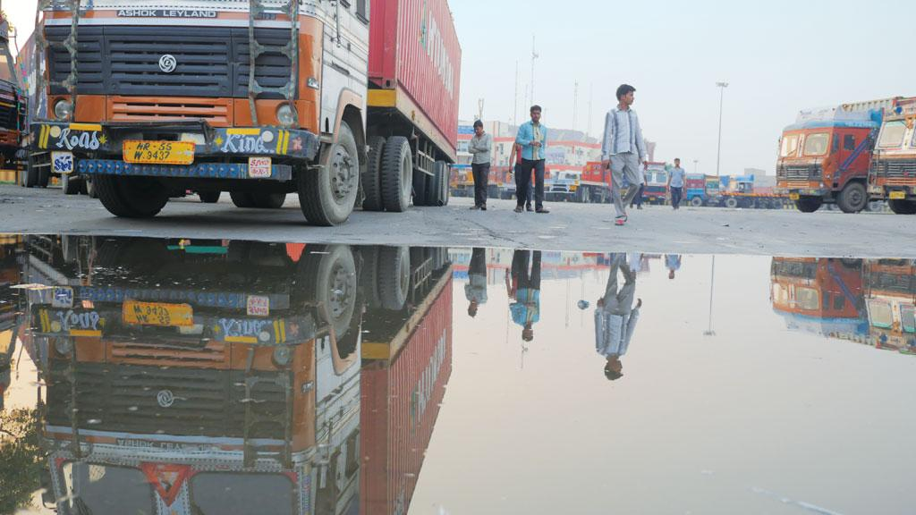 The Tughlakabad container depot, where 2-chloro-5 (chloromethyl) pyridine leaked on May 6, is surrounded by residential areas and schools (Photographs: Bhaskarjyoti Goswami)