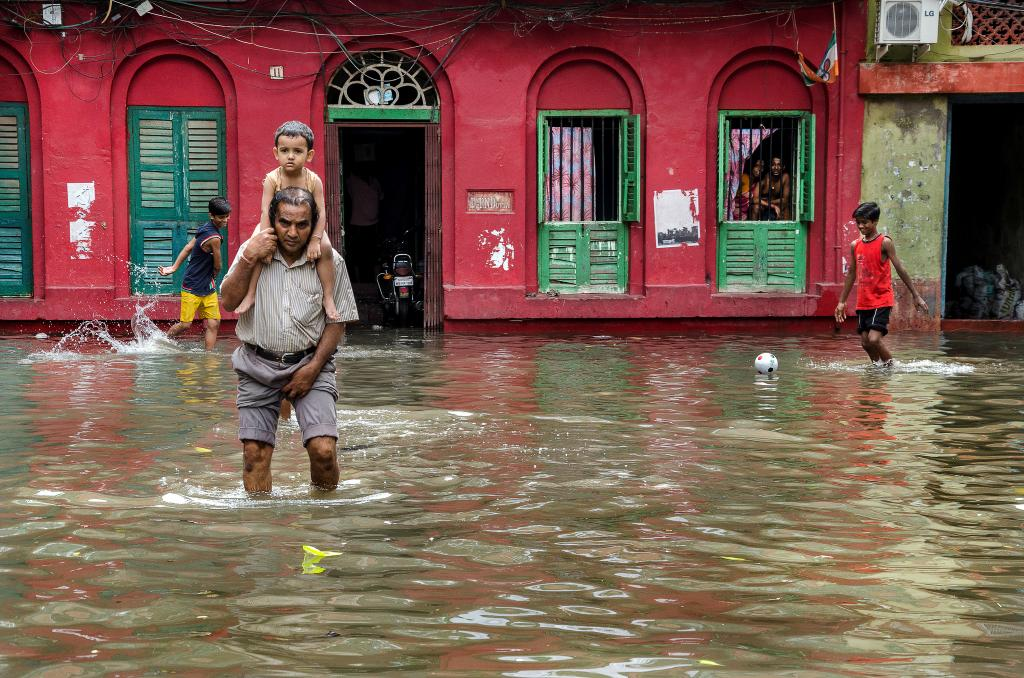 Assam's flooding woes continued this week after it was reported that over 100,000 people were affected last week. Credit: Global Landscape Forum / Flickr