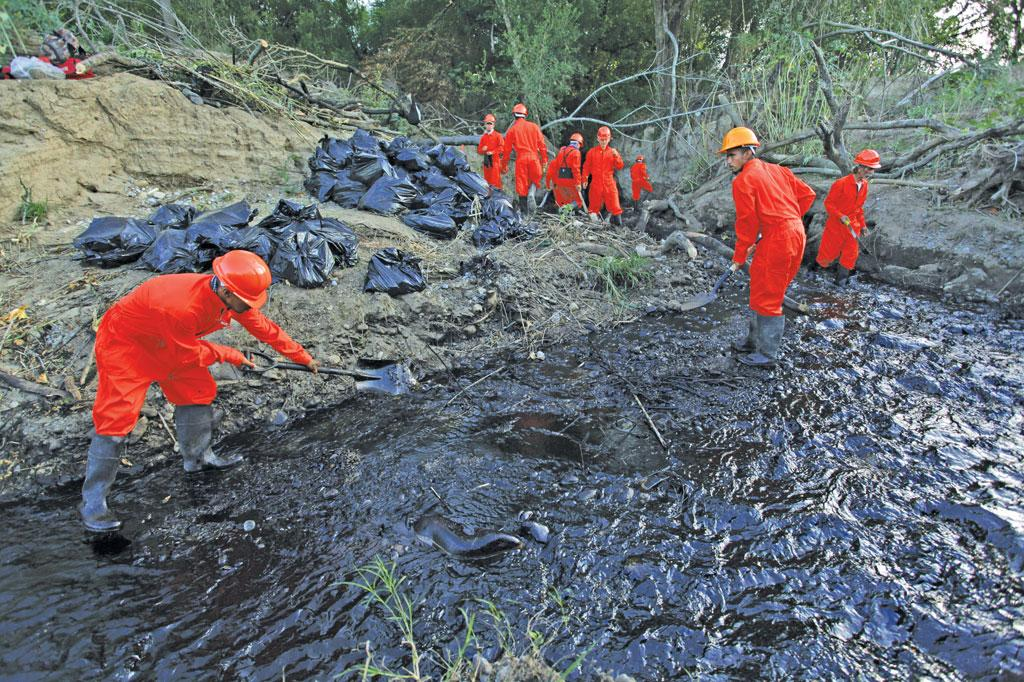 Oil spills, like this one in  Mexico, are hard to clean. That's why bioremediation is fast gaining ground (Photo: Reuters)