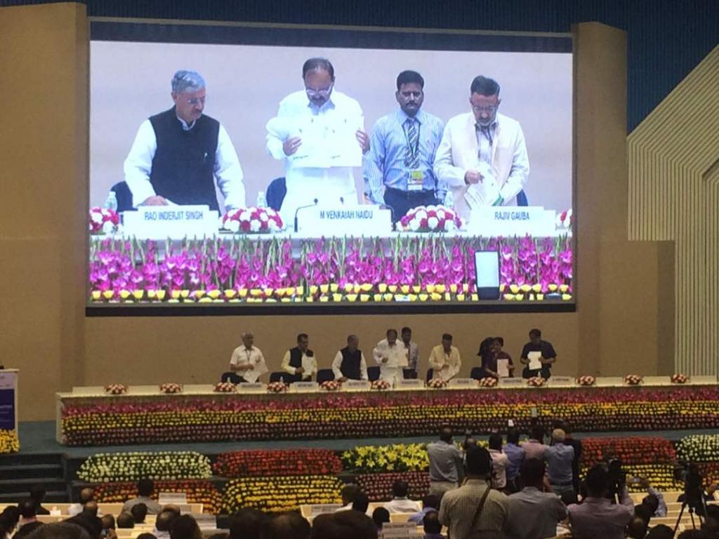 Union Minister M Venkaiah Naidu said the Smart Cities Mission is an echo of urban revival. Credit: Swati Singh Sambyal / CSE