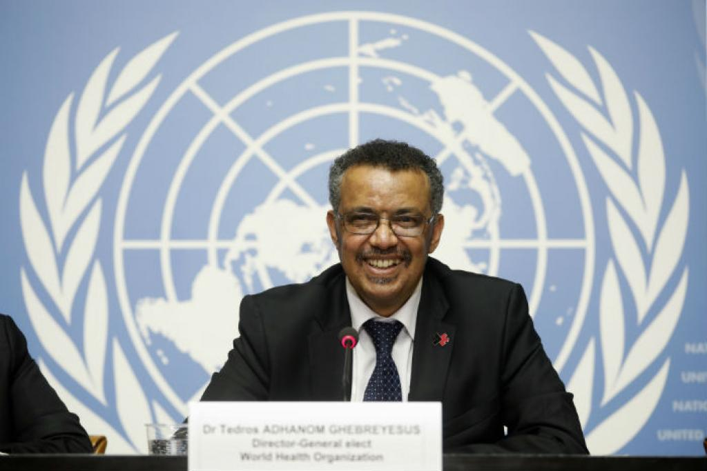 Tedros is the first African to bag that position in the history of the WHO (Credit: WHO)