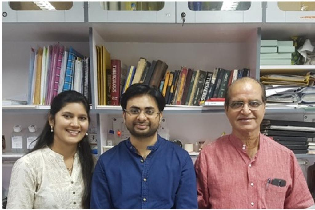 Prof. Anil K. Tyagi (right) with fellow researchers. Credit: India Science Wire