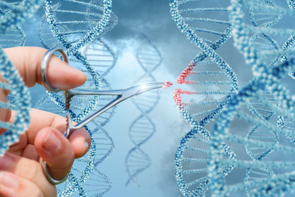 The technology works like molecular scissors to cut and paste DNA (credit: Thinkstock)
