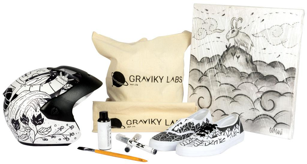Graviky Labs' Air-Ink used in a wide range of products