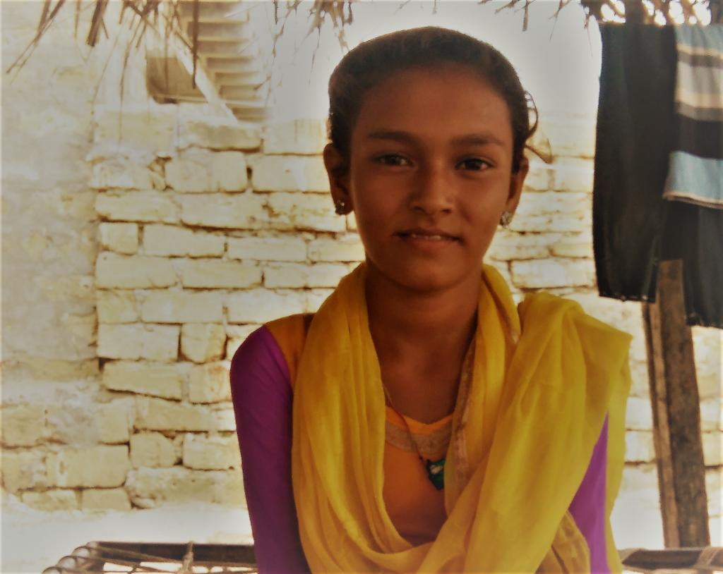 Sherbano has been spreading awareness in her community on education through her speeches. Credit: CRY