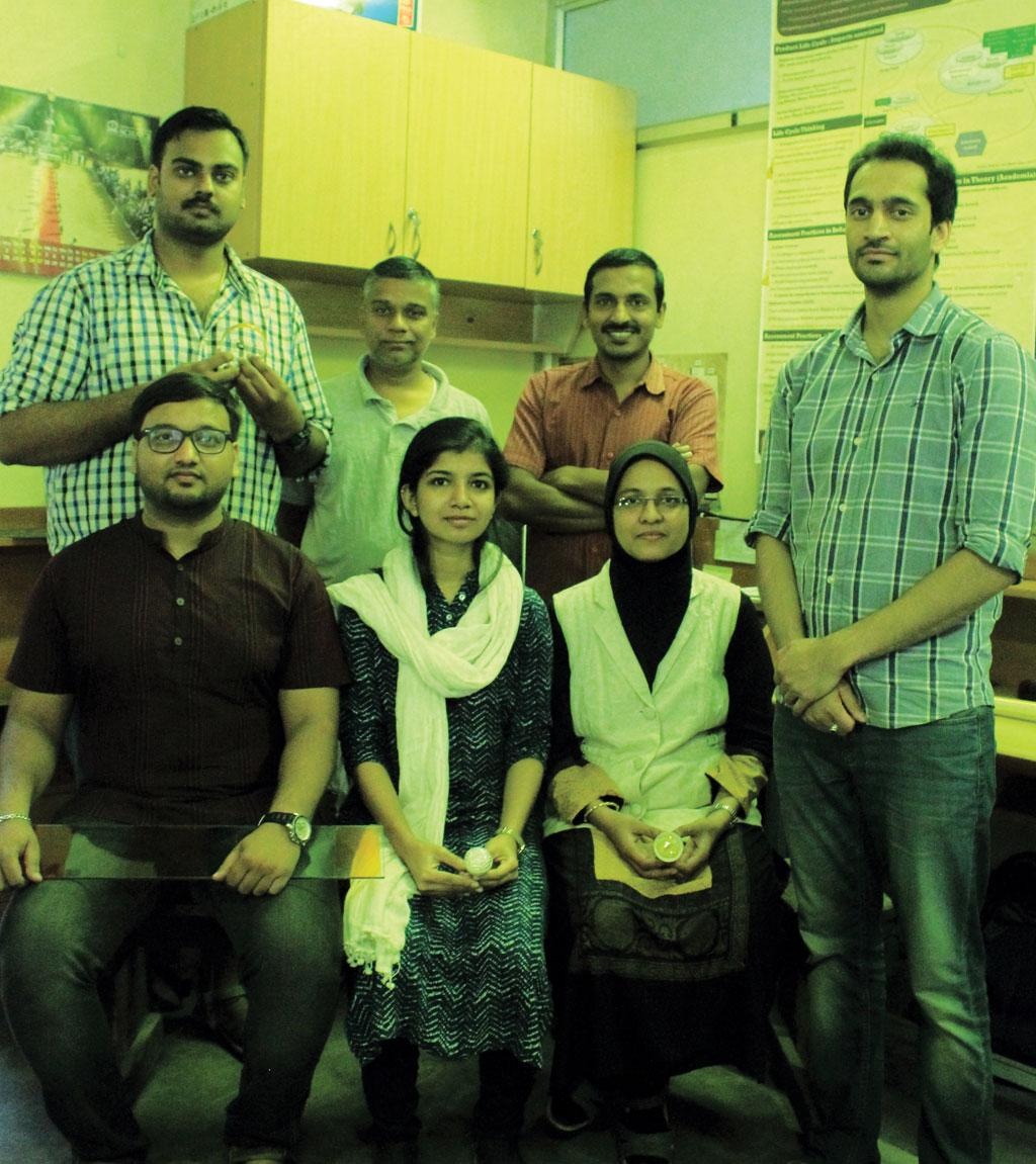The team from the Indian Institute of Science, Bengaluru, which developed a method to block the blue peaks from LED lights