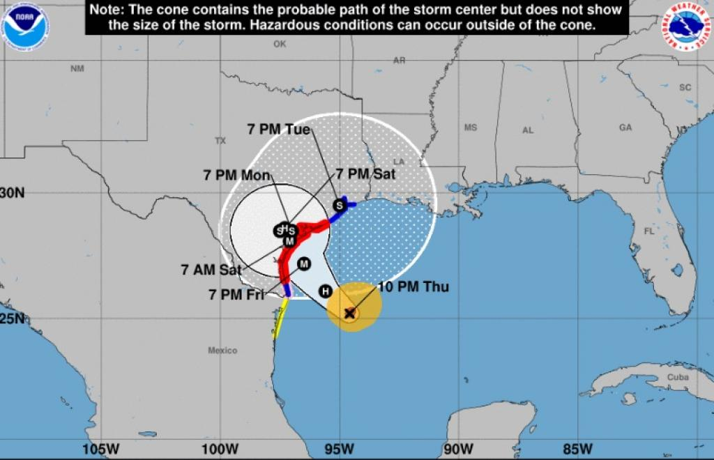 With a potential wind speed of 125 miles per hour and storm surges as high as 12 ft, this hurricane could lead to historic flooding. Credit: NOAA