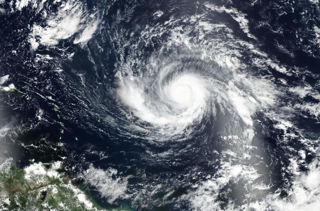 Satellite view of Hurricane Irma. (Credit: NASA)