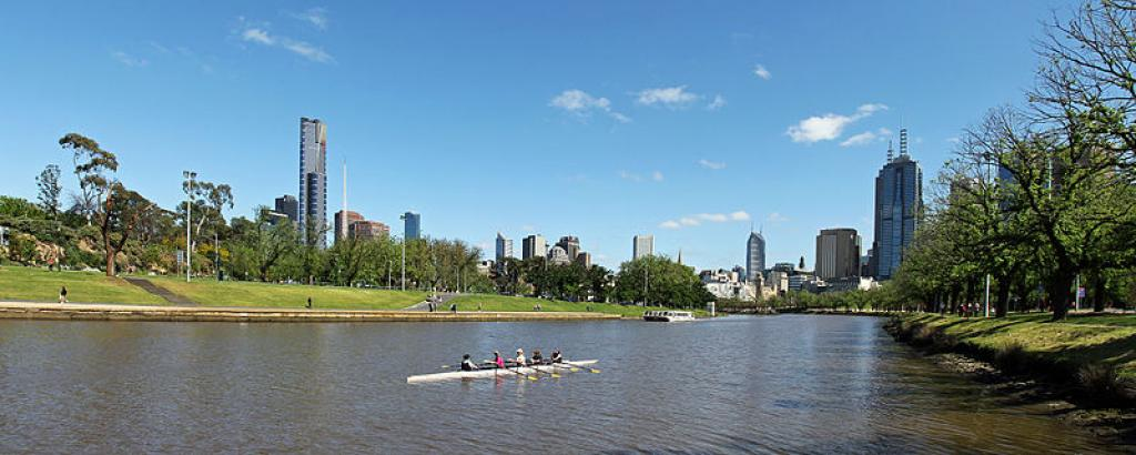The Yarra River flows through Melbourne (Credit: Donaldytong/Wikimedia Commons)