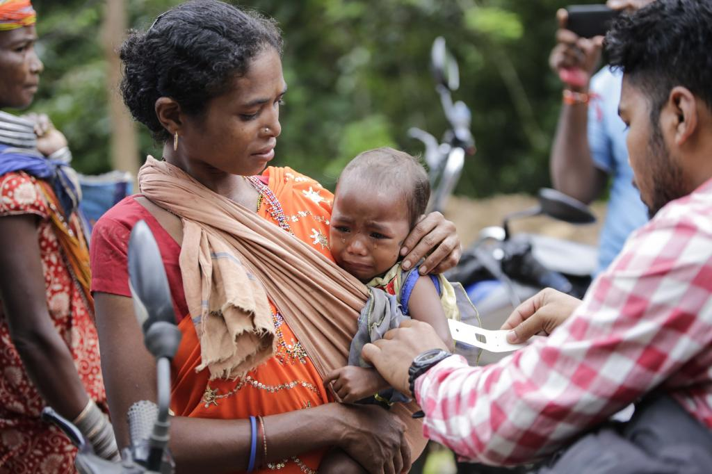 The rate of child stunting in India remains high, at 38.4 per cent in 2015-16 (Credit: Vikas Choudhary/CSE)