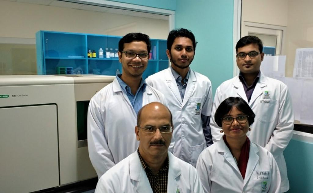 Sitting from left to right: Dr Sudheer Shenoy and Dr Bipasha Bose; Standing from left to right: Mr Debajit Chaudhury, Mr Muhammad Nihad and Mr Utsav Sen. Credit: ISW