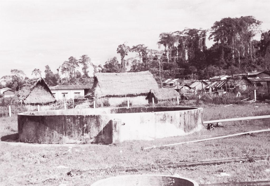 शोंपेन और जारवा आदिवासी बांस को चीरकर उनसे जल संग्रह में मदद लेते हैं। पूरे बांस को बीच से फाड़कर जमीनी ढलान पर ठीक से जमा दिया जाता है जिससे वर्षा का पानी उनसे घिरकर छिछले कुओं (जिन्हें जैकवेल कहा जाता है) में जमा हो जाए (सौमित्र मुखर्जी)