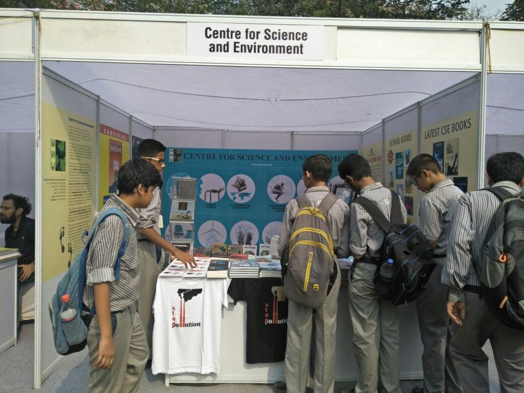 Centre for Science and Environment's stall at the festival venue  Credit: CSE