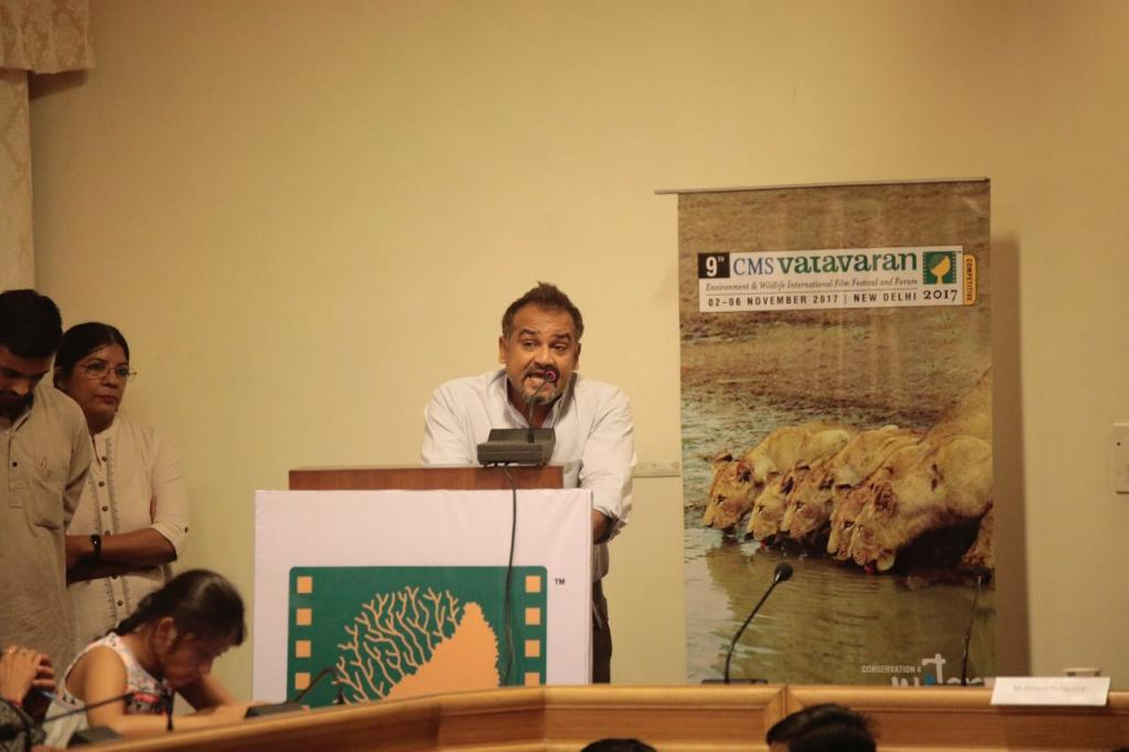 Nila Madhab Panda speaking at the launch of