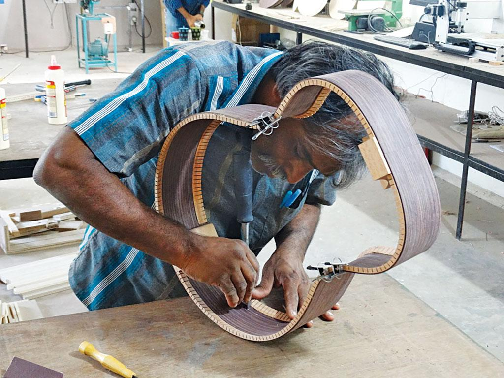 Guitars made from rosewood species found in South India are in high demand for fine acoustic property (Courtesy: UMOJA)